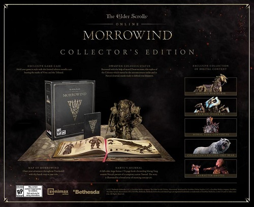 eso morrowind collector edition