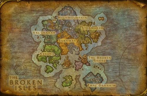 map of the broken isles
